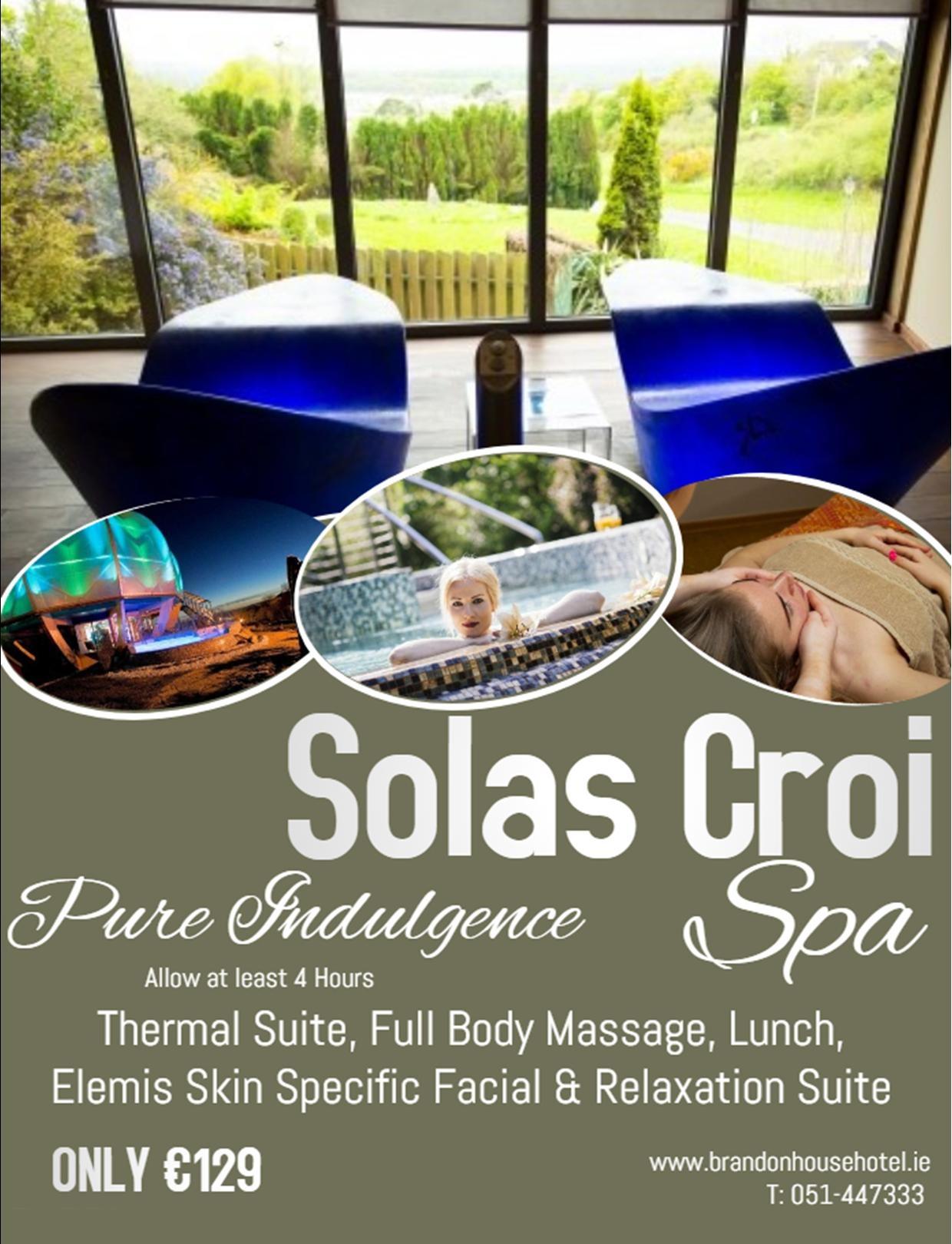 Solas Croi Spa | Spa Hotel | Brandon House Hotel